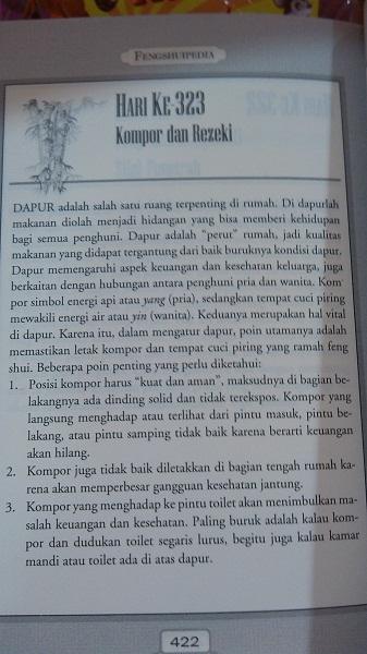 letak kompor menurut feng shui (2)