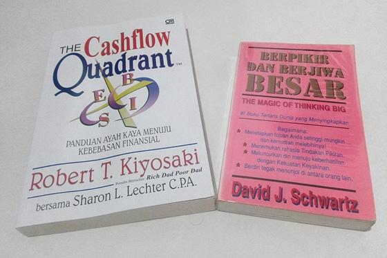 Buku Cashflow Quadrant & Berpikir dan Berjiwa Besar